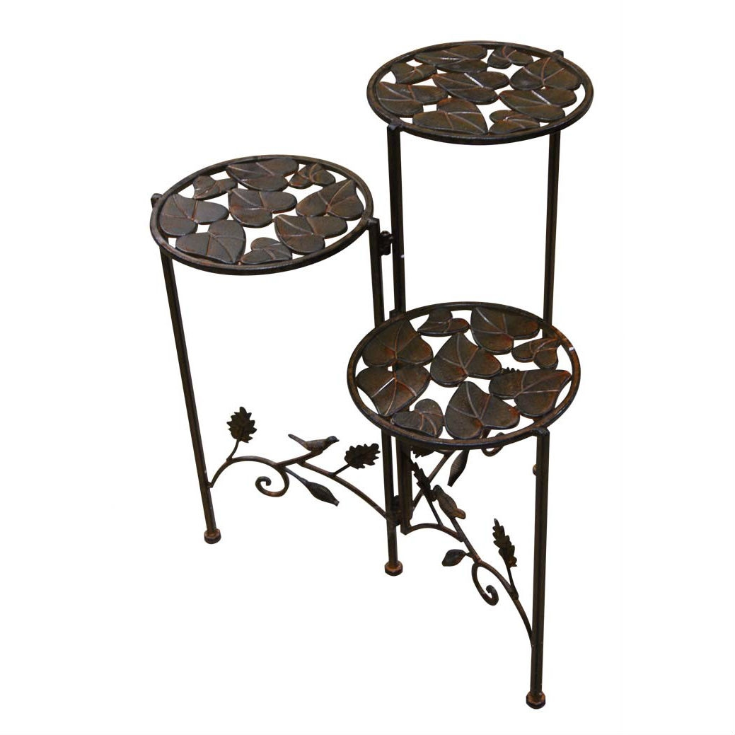 3-Tier Round Metal Planter Stand, RPS5023 :  This 3-Tier Round Metal Planter Stand would be a great addition to your home. It has a round shape and a metal planter stand.