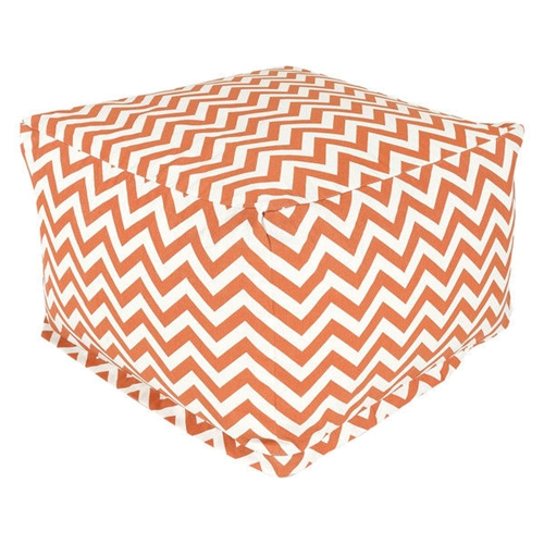 This Burnt Orange and White Chevron Stripe Bean Bag Chair Ottoman - Made in USA has a beautiful design, which is the perfect addition to the existing home setting, and in the patio, lawn, or garden. The Burnt Orange and White Chevron Stripe Bean Bag Chair Ottoman - Made in USA has 50-percent recycled polystyrene beads that make it durable and comfortable to use. This ottoman is woven with outdoor treated polyester, which makes it durable and perfect for outdoor use. It has a zig zag pattern and square shape that looks charismatic and adds class to its contemporary style. It is available in multiple colors that give you several options to select your favorite color. It is water-resistant, which makes it perfect to use in all weather conditions. This ottoman is also resistant to fading, rusting, and mildewing. It is equally suited to use this ottoman for indoor, outdoor, and commercial use. It has the capacity to hold weight up to 300 pounds. This stylish and well-designed ottoman is practical to use as a chair, footstool, or side table, and looks attractive as an outdoor ottoman in the patio, lawn, or garden. This stylish ottoman is eco-friendly, which makes it equally suitable for both indoor and outdoor use. It can be machine washed gently with cool water.