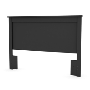 This Full / Queen size Headboard in Black Finish - Made in Canada has simple and elegant lines. This headboard is made of recycled CARB compliant particle panels. It has to be assembled by two adults. Measures 65 inches wide by 3 inches deep by 46 inches high. This headboard is delivered in one box measuring 69 inches by 24 inches by 4 inches and weights 41 pounds.  Laminated pure black smooth finish; Straight transitional lines.