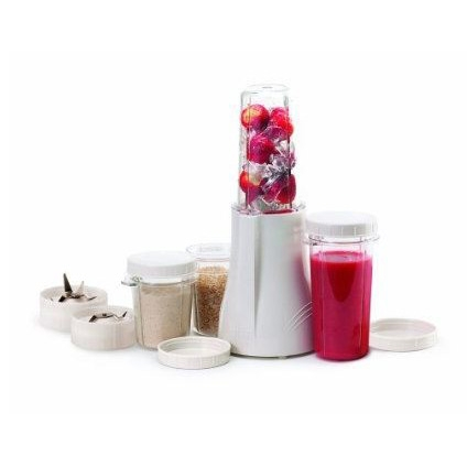 With this BPA Free Complete Blender and Grinder Package by Tribest you can make it your own way in your own cup and drink up! Versatile and portable for today's busy lifestyle, Tribest's Personal Blender® allows individuals and families to blend multiple drinks without having to stop and clean a bulky blending jar for each recipe. Blend and serve your own individual drink right in your own individual Blend-N-Serve cup, or take it to go with the secure and convenient lid. There's no extra mess to clean up and everyone gets just what they want. In under a minute, life just got a whole lot tastier! The high-powered, smoothie-blending, coffee-grinding, sauce-making wonder with Blend-N-Serve cups for the convenience.