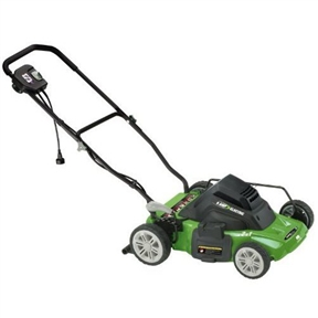14-inch 8 Amp Mulching Electric Lawn Mower by Earthwise, E5028AMEM :  This 14-inch 8 Amp Mulching Electric Lawn Mower by Earthwise requires no gas, no oil, no fumes and starts every time. The 2 in 1 system has a side discharge and mulches. A single lever height adjustment makes it easy to change the mowing height for any yard. The 14-Inch electric mower is the clean air choice. 5-1/2 Front and 6-1/2 rear wheel; Single lever height adjustment 1 1/2-inches to 4-inches.