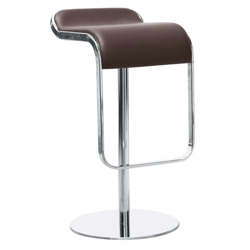 This Contemporary Barstool Chair is a great addition to any household or restaurant. The Bar Stool is a swivel chair with a base that is polished stainless steel frame and with height adjustable.
