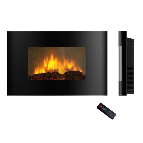 Modern Wall Mounted Electric Fireplace Heater with Remote Control, AWMEF2195 :  This Modern Wall Mounted Electric Fireplace Heater with Remote Control would be a great addition to your home. It is easy to use, allowing you to operate your fireplace with the push of a button and adjustable flame brightness.  750 watt (2559btu) and 1500 watt (5118btu) heat settings; Realistic flame image, log set and ember bed; On/off remote control; Easy to use, allowing you to operate your fireplace with the push of a button; Place it anywhere with an existing fireplace - bedroom, living room, office, basement, and relocate it easily; Simply plug it into a standard household electrical (120V) outlet; Economical to operate and a breeze to set up - no renovations required; Electric Insert/Log Sets include a 1-Year Limited Warranty. Mounting hardware included allows you to mount this incredible fireplace easily on any flat wall; Easy installation, come with all standard installation accessories. visit our online instruction manual; Safety thermal cut-off built-in to prevent overheating; Mounting hardware included allows you to mount this incredible; Log set included