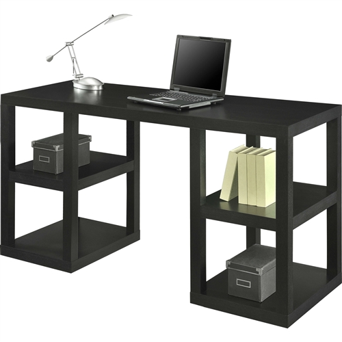 Enhance the decor of your office or home with this Modern Home Office Computer Desk in Black Oak Wood Finish. Innovative in design, it is ideal for small spaces. This Modern Home Office Computer Desk in Black Oak Wood Finish is made of premium-quality, which ensures strength and durability. It is available in multiple finishes and you can choose the one that suits the color scheme of your home. It has an open and airy design, which is visually appealing. The desk offers a generous extended work surface and has two storage shelves on both the sides. It has one pull-out storage drawer. You can display your favorite books and home accents on the shelves. It is space-saving and makes it easy to access whatever is stored. It is a versatile and stylish addition to any room in your home. It is a great way to maximize space of any room. You can place this desk in any room against any wall. It helps you keep things organized and free of clutter. It is non-toxic, making it safe to use. It is ISTA 3A certified, which ensures its optimum safety during transit. It is manufactured by Altra, which has been dedicated to creating beautiful furniture that is fun and environmentally responsible.