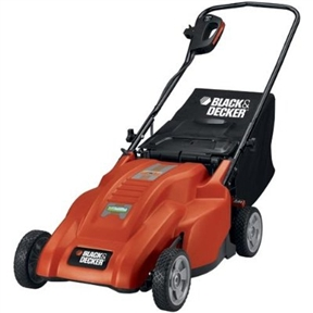 "18-inch Corded 12-amp Electric Lawn Mower by Black & Decker, BDMM1800CELM :  This 18-inch Corded 12-amp Electric Lawn Mower by Black & Decker features Lightweight electric lawn mower is easy to maneuver and push Clean electric power means no oil, tune-ups or trips to the service station No-hassle instant lawn mower starting, every time High-performance 12 amp motor provides plenty of power for mulching or bagging 18"" three-in-one lawn mower deck design for mulching and bagging plus optional side discharge Ultra-durable, no-rust deck Minimal Assembly Required High-performance 12 amp motor Instant lawn mower starting Handle folds easily Mulching and bagging plus optional side discharge No oil, tune-ups or trips to the service station Easy to maneuver and push adjusts all four wheels at once from 1-1/4 to 3-1/2"" is easy to clean and guaranteed for life Plenty of power for mulching or bagging For compact storage Black & Decker MM1800 18"" Rear Bag Mulching Lawn Mower Specifications: Amps: 12 Amps Cutting Path: 18"" Height Adjustment:Single lever Weight: 42 lbs Cutting Heights: 1-1/4"" to 3-1/2"" "" Mulching Capability: Yes Power Source: Electric Black & Decker MM1800 18"" Rear Bag Mulching Lawn Mower Included MM1800 Electric Mulching Mower Mulch Plug Rear-bag Assembly. Folds down for easy storage; 1-touch height adjustment; 2-year limited warranty."