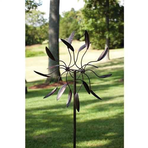 "Spinning Metal Outdoor Garden Art Wind Spinner, TKGS5849815 :  This Spinning Metal Outdoor Garden Art Wind Spinner would be a great addition to your home.Features: -Animated design. -Season: Everyday. -Powder-coated Metal Finish Product Type: -Garden stake. Color: -Black. Material: -Metal. Generic Dimensions: -82"" H x 24"" W x 6"" D, 4.7 lbs. Dimensions: Overall Height - Top to Bottom: -82 Inches. Overall Width - Side to Side: -24 Inches. Overall Depth - Front to Back: -6 Inches. Overall Product Weight: -4.7 Pounds."