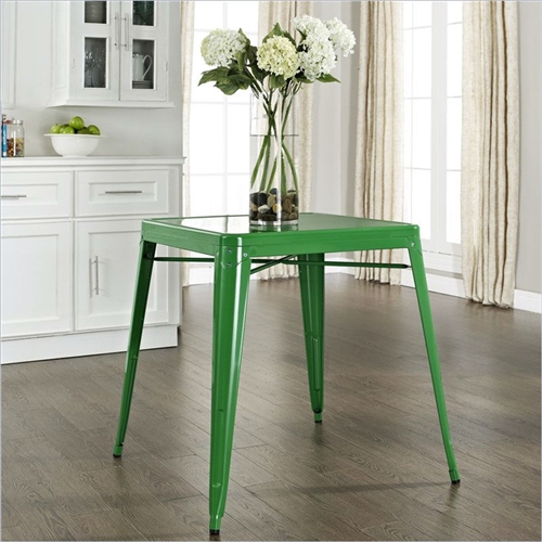 Originally made famous in the quaint bistros of France, these Contemporary French Cafe Style Sturdy Metal Dining Table in Green will offer a dose of nostalgia combined with careful consideration for your wallet. This inspired revival evokes a sense of a true vintage find.