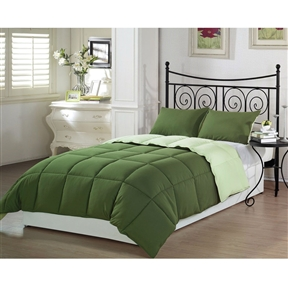This Queen 3-Piece Reversible Down Alternative Comforter Set in Green is the perfect solution for your search for bedding that's bright, colorful and cheerful looking. If you're looking for bedding that will turn heads, look no more because you've found it in this 3-pece piece comforter set. The color and pattern is something you have to see to believe…and once you see it, you'll love it.
