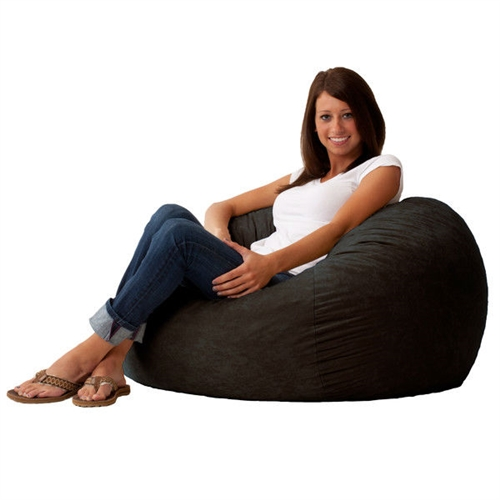 This Black Suede Medium 3-Foot Bean Bag Chair - Made in USA is the perfect combination of style and functionality. Designed to perfection, this bean bag offers ultimate comfort as it uses patented memory foam. The cover is made from soft suede fabric that is soft to touch. It is also durable, so you can enjoy its appeal for a long time. You can place it in the bedroom to relax or the living room to enjoy a movie. The Black Suede Medium 3-Foot Bean Bag Chair - Made in USA is available in multiple finishes, so you can choose one that best suits your needs.