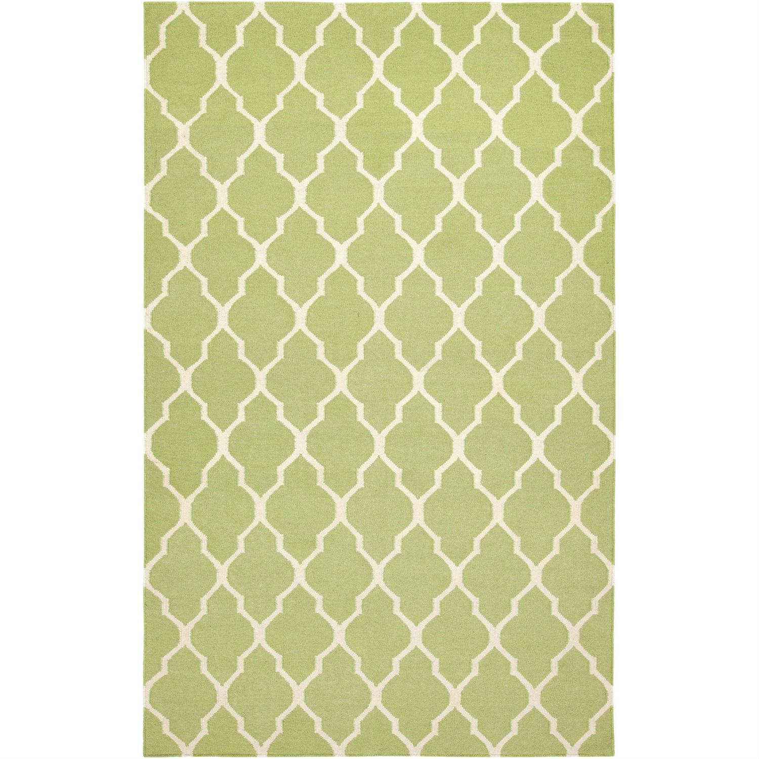 2' x 3' Light Green Lattice Area Rug in 100% New Zealand Wool, RSL5351 :  This 2' x 3' Light Green Lattice Area Rug in 100% New Zealand Wool would be a great addition to your home. Flat-woven rugs have been a favorite for centuries. Each dhurrie is hand-woven with 100% blended New Zealand wool to insure years of durability. Technique: Hand Woven; Primary Pattern: Geometric; Primary Color: Green; Material: Wool; Material Details: New Zealand Wool; Reversible: No; Rug Pad Needed: Yes; Outdoor Use: No; Product Care: Brush and shake off or sweep with broom, professional rug cleaning recommended; Country of Manufacture: India.