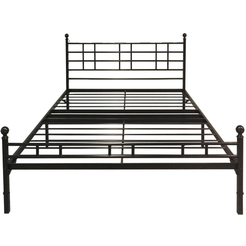 This Twin XL Steel Metal Platform Bed Frame with Headboard & Footboard is an all-in-one mattress support fame foundation with built-in headboard and footboard. Great for home use, dormitories and for temporary settings. For visiting family or friends, it is great for converting your spare room into a bedroom. And, setup is a breeze! Simply unfold, tightened the 4 support bolts, and screw in the headboard and footboard knobs. Once completed, place your chosen mattress and beddings – you are ready for a good night's sleep! No box spring is needed. It is constructed using 100% steel to maximize support and durability and includes a 5-year manufacturer warranty.