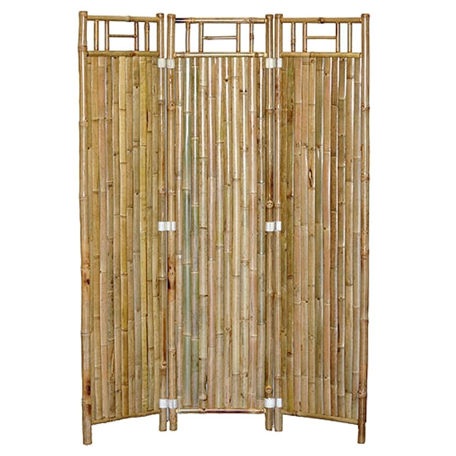 Real Bamboo 3-Panel Room Divider Asian Shoji Screen Style Design, NBRD726954 :  Let the natural elements found within bamboo furniture shade you with this Real Bamboo 3-Panel Room Divider Asian Shoji Screen Style Design. Combining real, durable bamboo with the aesthetic of eastern culture design, this screen offers a simple elegance that will accent any type of room. Each Screen folds out into a 3 panel design. Assembly Required: No; Product Warranty: 30 days; Style: Traditional; Installation Required: No; Theme: Tropical/Exotic; Color: Natural bamboo; Primary Material: Bamboo/Rattan. Outdoor Use: Yes; Commercial Use: Yes; Eco-Friendly: Yes; Product Care: Wipe clean with a moist cloth; Country of Manufacture: Viet Nam.
