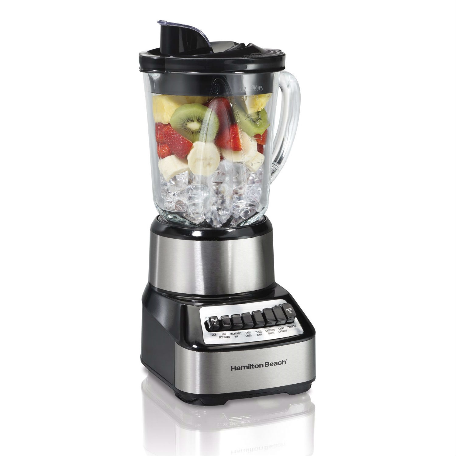 This 700-Watt Multi-Function Kitchen Countertop Blender with Glass Pitcher would be a great addition to your home. Usage of more frozen foods (fruit, ice cream, etc.) than liquids leads to the foods sticking to the sides of blender jars or the mixture becomes stiff (frozen) and will not flow.