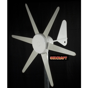 300 Watt 12-Vot 6-Blade Wind Generator with Charge Controller, G12V6B300WG :  This 300 Watt 12-Vot 6-Blade Wind Generator with Charge Controller is popular low start up wind speed wind turbine in home yard, cabins, boats, advertising signs, telecommunications tower, etc. Thousands have been sold and are in use worldwide. People have the particular inclination for it's clean, aerodynamic lines and its quiet and continuous operation. Without any doubt GudCraft WG300 accumulates more energy than any other comparable wind generator available, you'll always see spinning in the lightest of breezes.  Quiet in operation, Brushless alternator, 360 degree free rotation on the mounting pole; Comes with integrated charge controller, instruction manual.  and 1-year warranty
