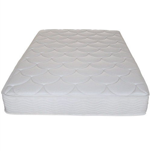 """This Full-size 8-inch Thick Innerspring Coil Mattress is made of hundreds of independent coils providing customized support for every inch of your body while minimizing motion transfer for uninterrupted sleep. The 8"""" spring mattress has a 7"""" iCoil base with a 1"""" high-density foam layer on top to provide firm support and comfort. Environment Sleep Master embraces the idea of """"Sleep Green"""", the comfort of your sleep environment is balanced with ingredients that are safer for you and the environment. We use Bio Foam in all our mattresses, made with natural seed oil this minimizes the use of petrol based chemical oils. Additionally, all of our mattresses are CertiPUR-US certified. You can rest assured knowing that your mattress has gone through the most rigorous and comprehensive testing in the industry. Warranty We strive to help everyone experience a rejuvenating and relaxing night of sleep. We want you to love your mattress so back all our products with a limited 5-year warranty. Please leave a review and let us know about your experience with our products."""