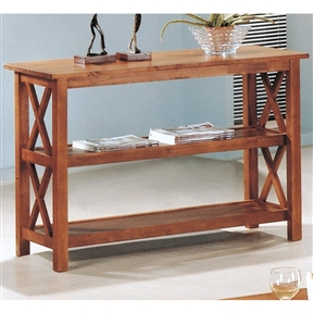 Brown Wood Sofa Table Living Room Console Table w/ 3 Shelves, CSTB110891 :  This Brown Wood Sofa Table Living Room Storage Display Shelves would be a great addition to your home. It has brown wood and storage display shelves.