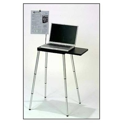 "This Compact Portable Lightweight Laptop Computer Notebook Stand Desk would be a great addition to your home. ONLY Laptop Stand that FULLY EXTENDS for sit down and stand-up use.TABLETOTE portable laptop and projector stand is perfect for professionals, students, speakers or anyone on the go needing a mobile, compact, light-weight, sturdy and adjustable work surface. Convenient workspace sets up in just seconds Can be used anywhere from boardroom to dorm room. Fits in most PC carrying cases, briefcases and backpacks. Transport size is 10 1/2"" wide, 13"" long and 1 1/8"" thick, fully compacted. Self Contained Design. Expendable Platform * Slide bottom creates expandable work surface by sliding onto table top (from 13"" to 23""). * Telescopic fully adjustable quick twistlock legs. * Configure without tools to accommodate heights from 13"" to 30"". Maximum load weight is 18 lbs. (9kg) evenly distributed. Lightweight (less than 3."