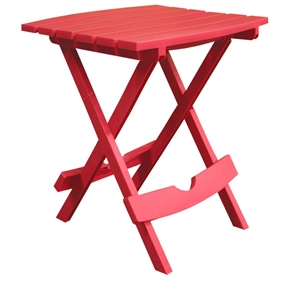 Folding Side Table for Outdoor Patio Lawn in Cherry Red Durable Resin, CRST6481 :  This Folding Side Table for Outdoor Patio Lawn in Cherry Red Durable Resin is excellent for serving drinks and snacks. Table easily opens and closes for carrying and storage. Weatherproof; 100-percent Recyclable; Great For Patios and Lawns; 100% Recyclable.