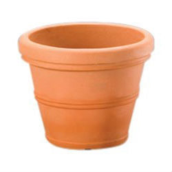 Weathered Terracotta 12-inch Diameter Round Planter in Poly Resin, SHV128954855 :  Get the look of classic terra cotta pots without the mess and heartbreak that comes when you break one. This Weathered Terracotta 12-inch Diameter Round Planter in Poly Resin constructed of durable poly resin plastic that is extremely sturdy and lightweight. They won't fade, crack, split, or warp and have a thick rim and classic shape perfect for nearly any plant or small tree. Designed to work for indoor or outdoor plants, these planters are available in your choice of size and color options and even come complete with pre-drilled drainage holes.