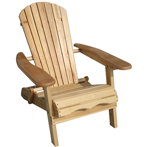 Folding Adirondack Chair for Patio Garden in Natural Wood Finish, MGFAC6994:  This Folding Adirondack Chair is made out of Fir wood with a natural finish. Ergonomic structure of this chair ensures optimal comfort and relaxation. Chair itself is light weight and very easy to handle, as it folds flat for easy storage. Warranty: 1 Year.