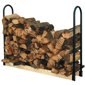 Adjustable Length Firewood Log Rack for Indoor or Outdoor Use, PALR33913 : This Adjustable Length Firewood Log Rack for Indoor or Outdoor Use presents a multitude of places to store, dry and display firewood. Racks are made from thick tubing or solid steel and are powder coated to withstand the elements. For indoor or outdoor use. Includes two tubular steel end brackets made from heavy gauge tubular steel. 2 x 4 inch lumber NOT included.