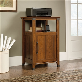 This Cherry Finish Printer Stand with Open Shelf - Made in USA would be a great addition to your home. It has an adjustable shelf behind the door and is make in the USA.