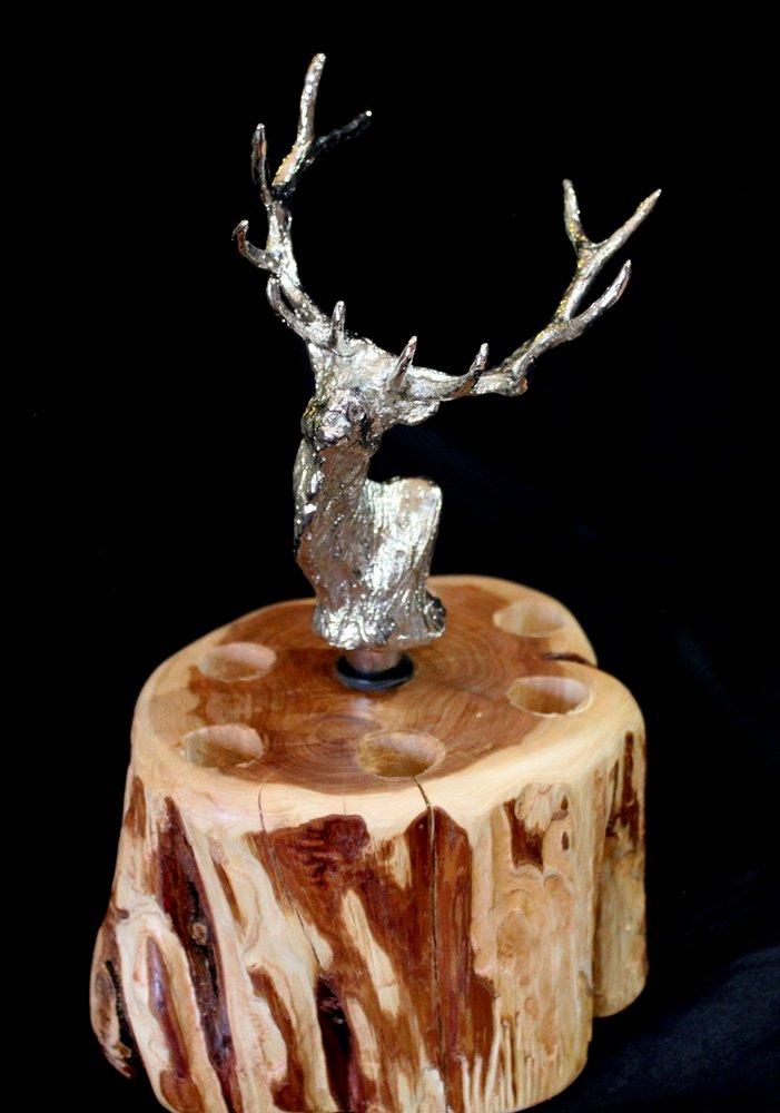 Elk (Shiny Silver Patina)