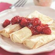Traditional Cheese Blintzes with Raspberry Sauce, 24 count