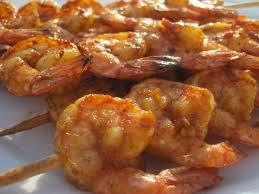 Korean BBQ Shrimp en Skewer, 5 skewers, 5 shrimp each