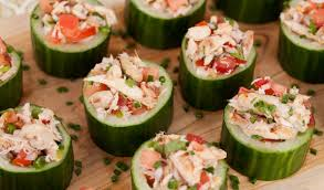 Crab Salad en Cucumber, 24 count
