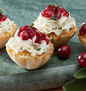 Goat Cheese with Honey, Cranberry, and Almond Tartlette, 30 count