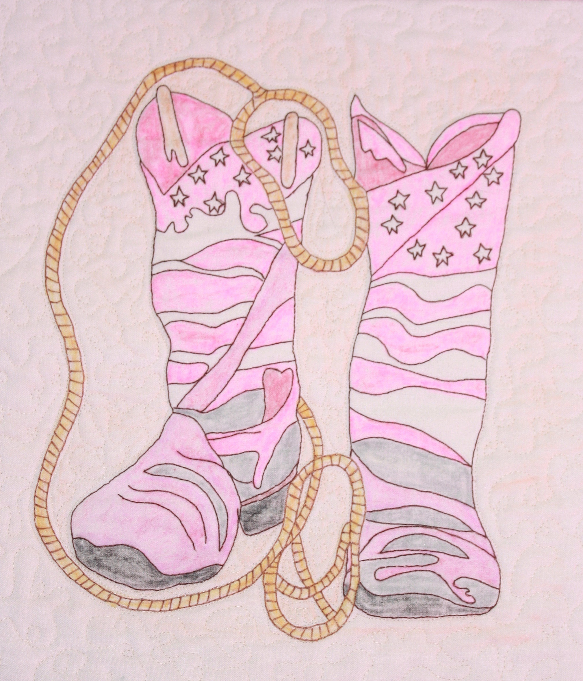 """Rope-N-Boots"" by TrinityQuilt  Designs"