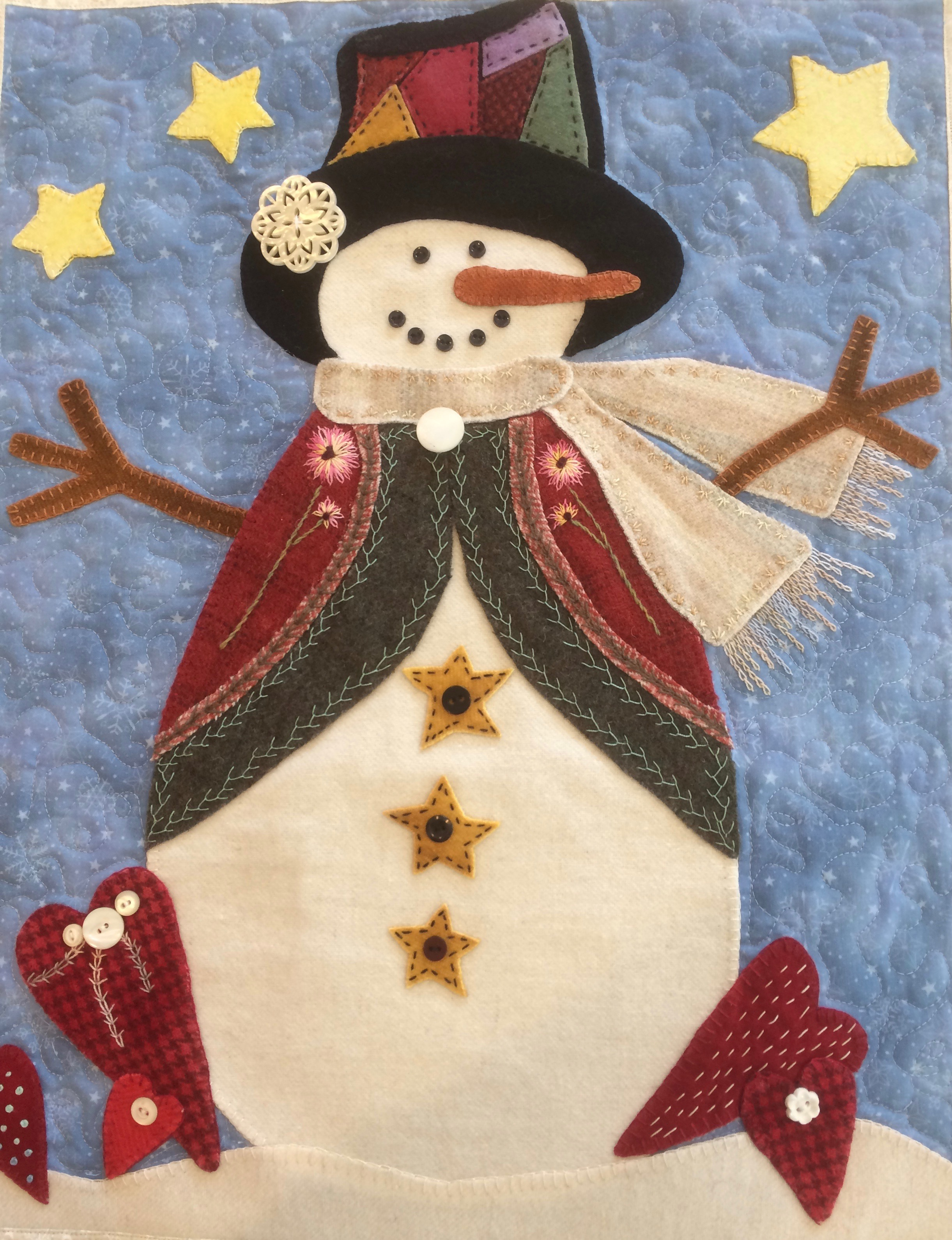 Country Snowman by Trinity Quilt Designs