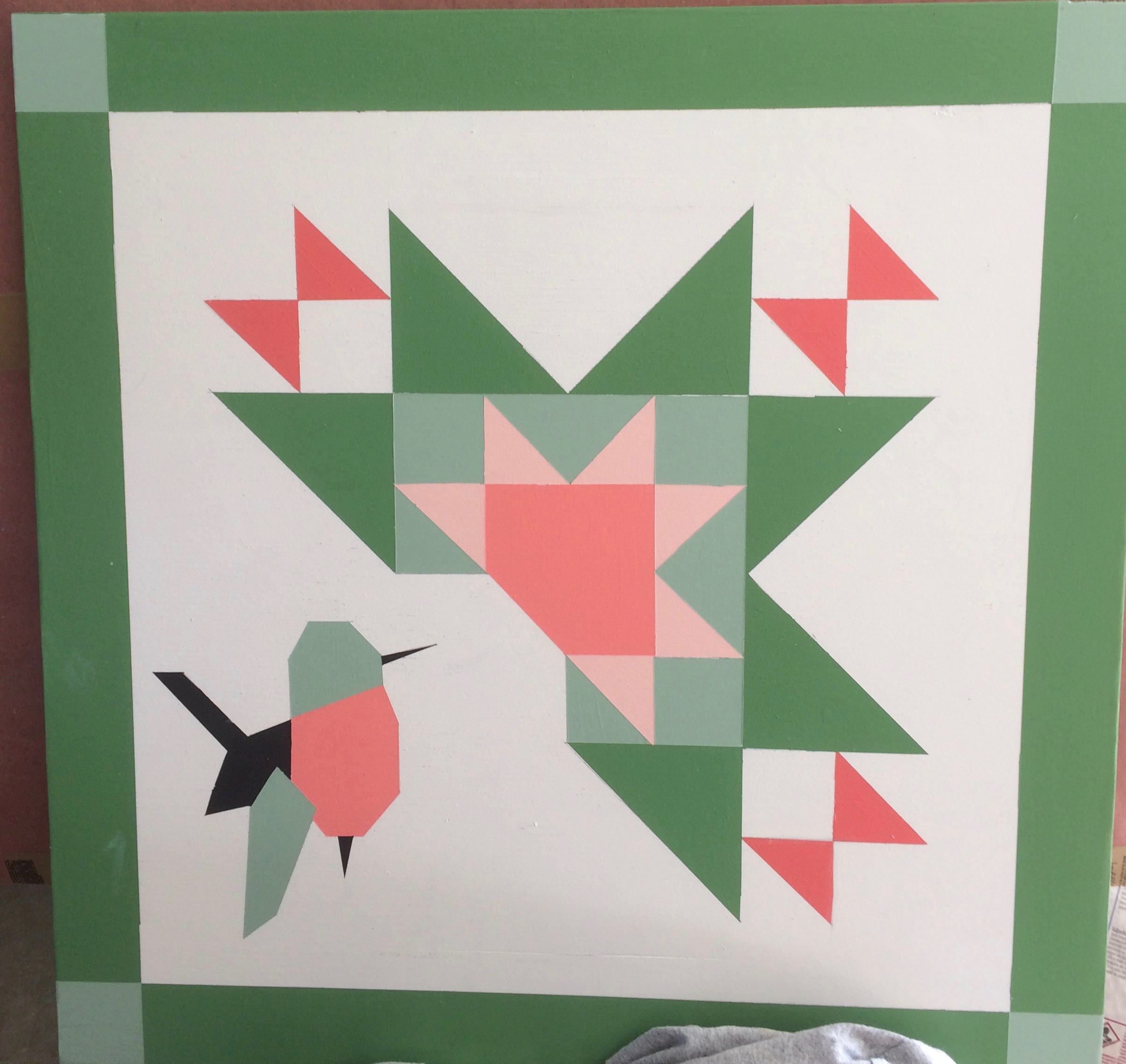Hummingbird Wooden Quilt