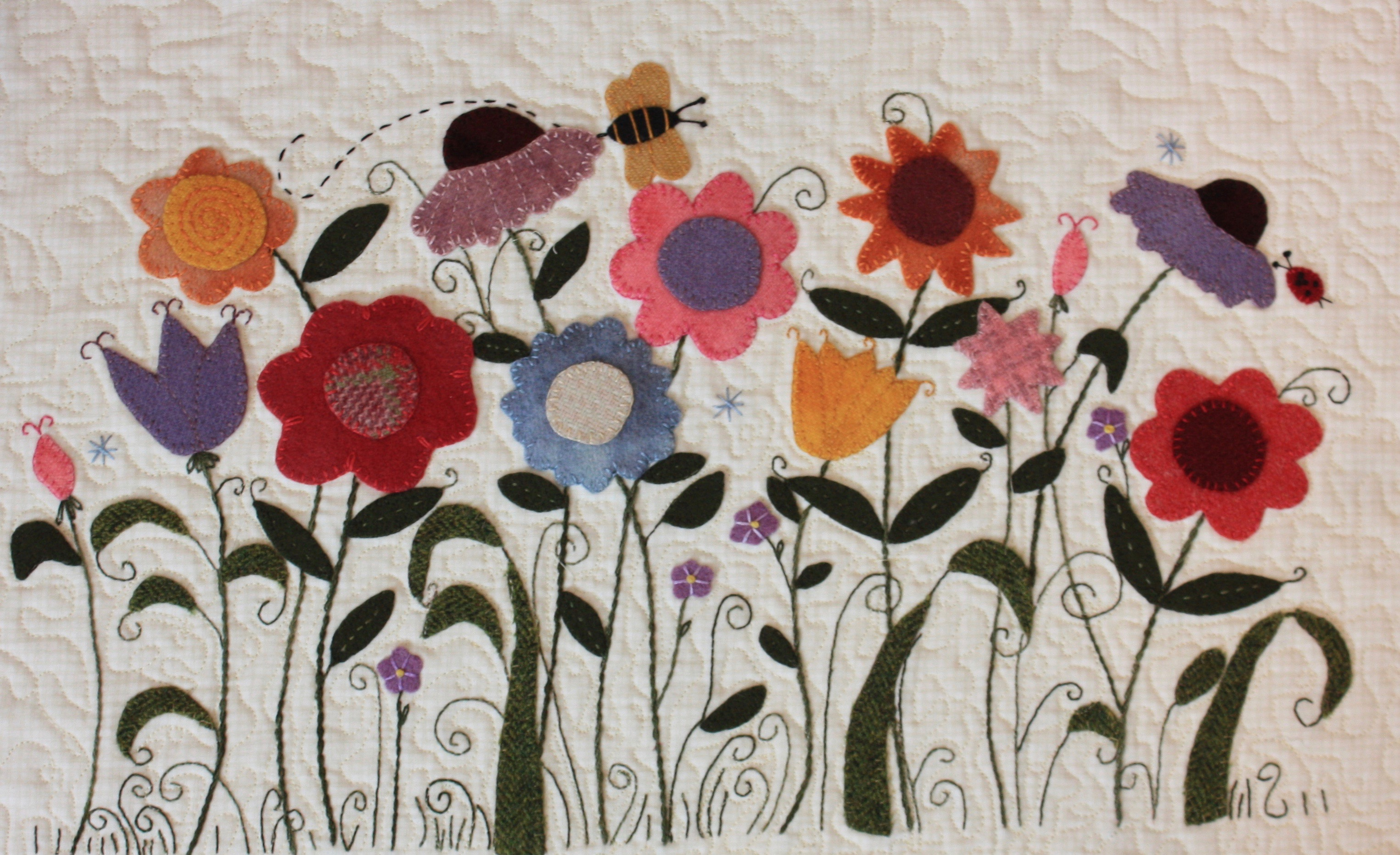 """Cleo's Wildflowers"" by Trinity Quilt Designs"