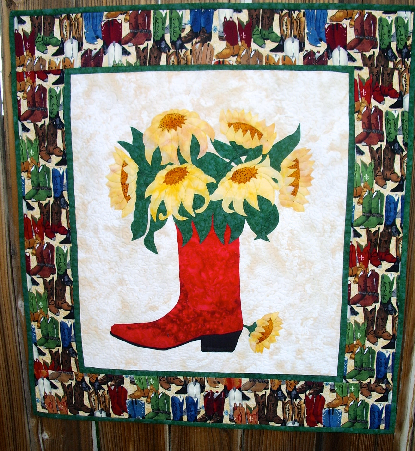 Sunflower Boots by Trinity Quilt Designs
