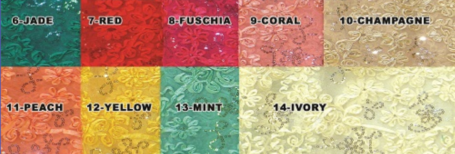 Tulle Mesh Embroidery Sequence Ribbon
