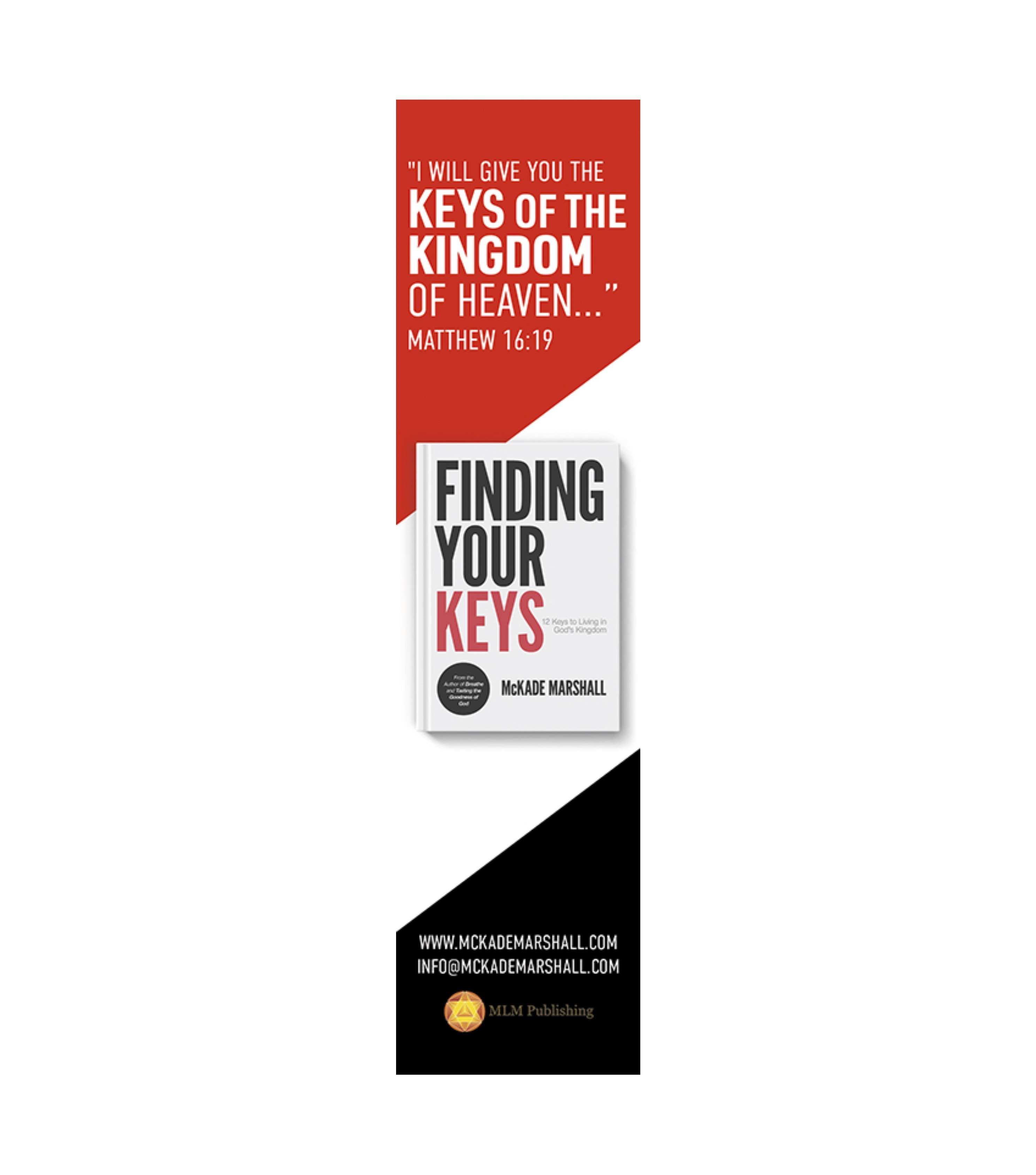 "3 ""Finding Your Keys"" Bookmarks"