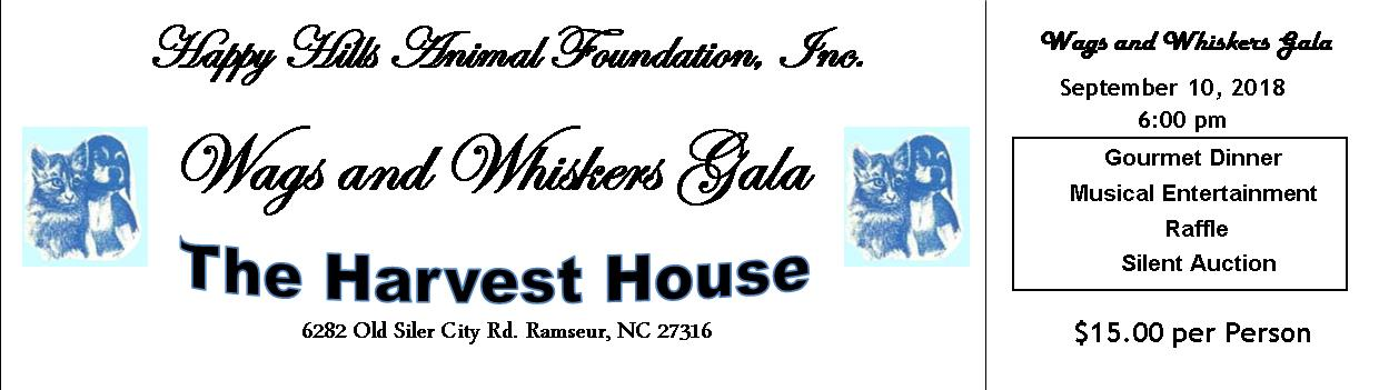 2018 Wags & Whiskers Gala Ticket