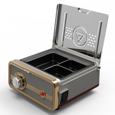 3 Chamber Analog Wax Heating Pot