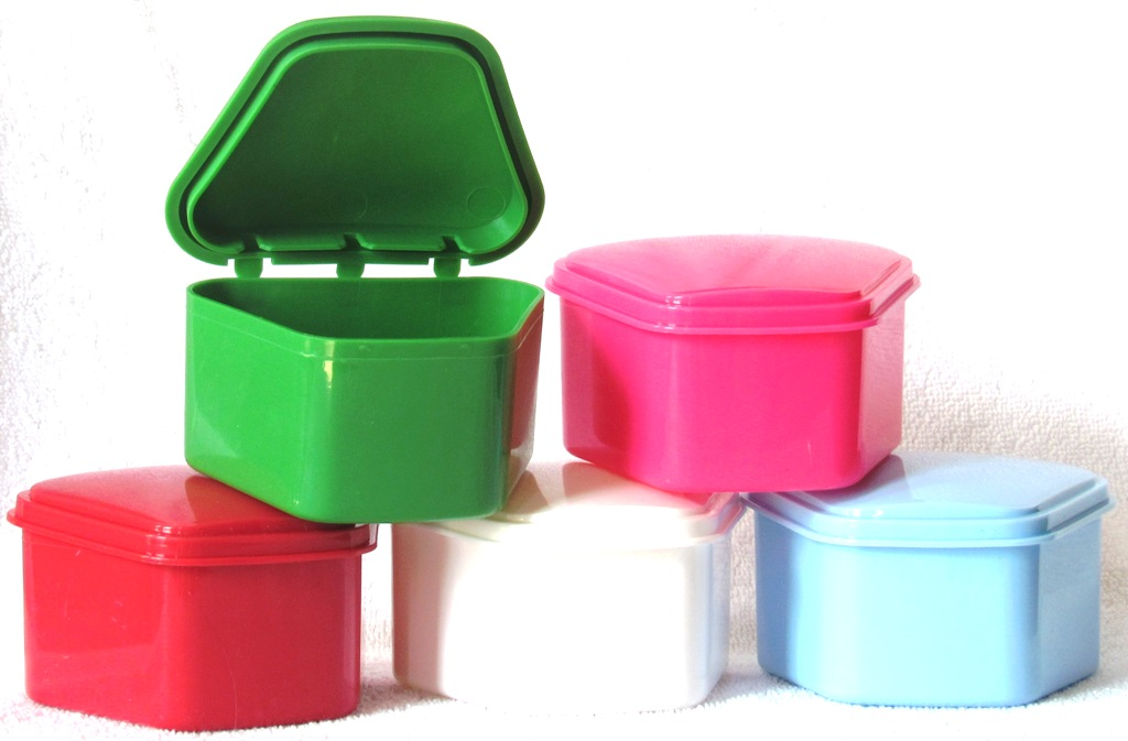 Denture Box with Hinged Lid - 25 per package