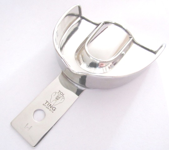 Stainless Steel Solid Impression Tray - UPPER SINGLE TRAY