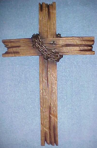 Wall Hanging Cross Decor Barn Wood Look