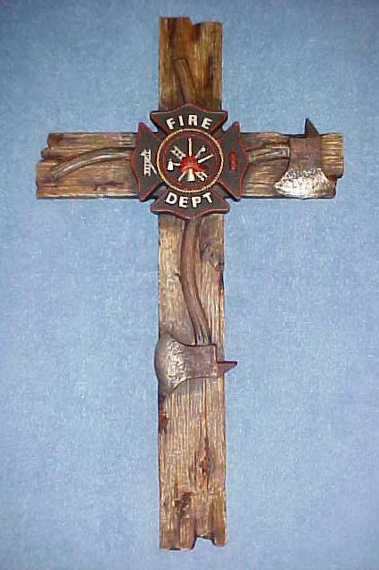Fire Department Wall Cross