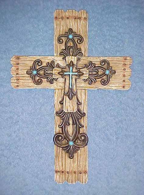 Wall Hanging Cross Layerd Wood Look