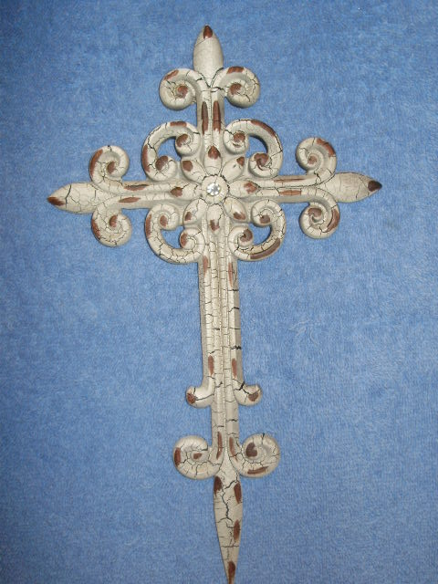 Ivory Cross Wall Hanging Decor
