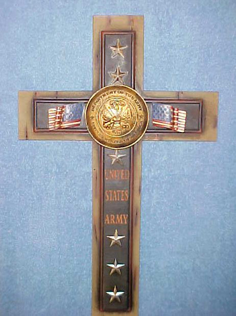 United States Army Wall Hanging Cross