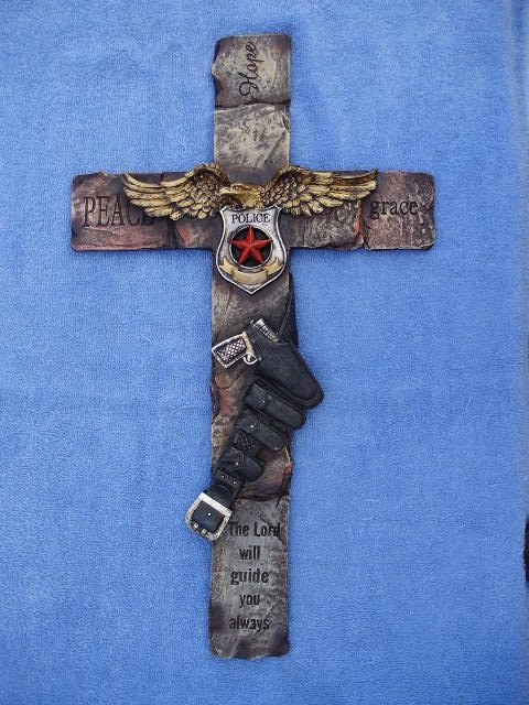 Police Department Wall Cross