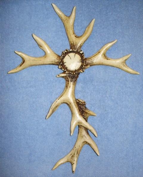 15 inch Deer Antler Cross
