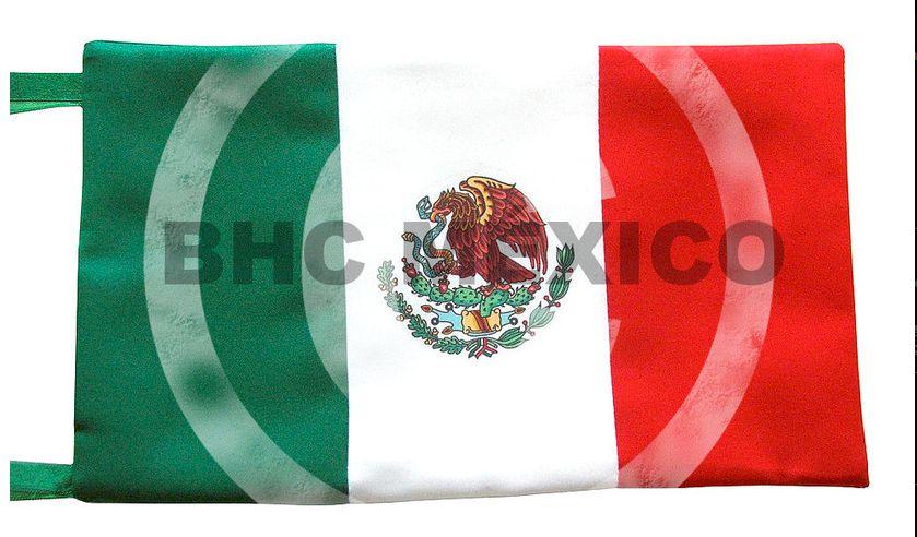 Bandera de Mexico para mesa escudo impreso